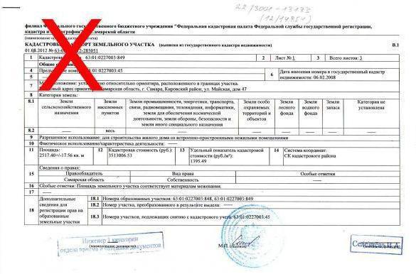 Что такое ошибка в кадастровом паспорте